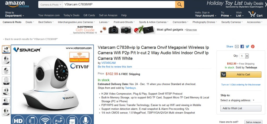 Vstarcam C7838WIP amazon